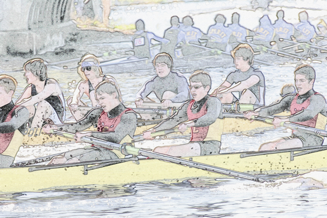 Time-less-image rowing sculling