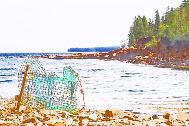 Time-less-image beach Bar Harbor Maine
