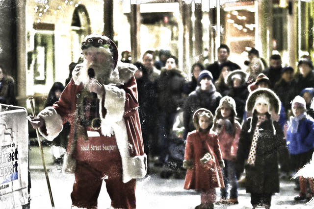 Time-less-images Christmas Santa In New York