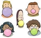Time-less-images Bubble Gum
