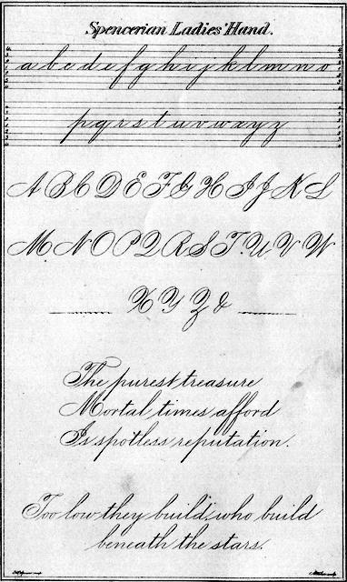 Spenserian handwriting