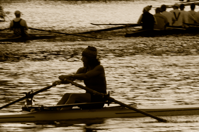 Time-less-images Rowing Sculling
