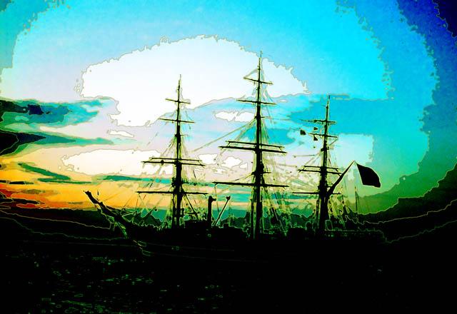Time-less-image Tall Ship
